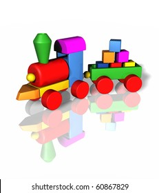 toy train isolated
