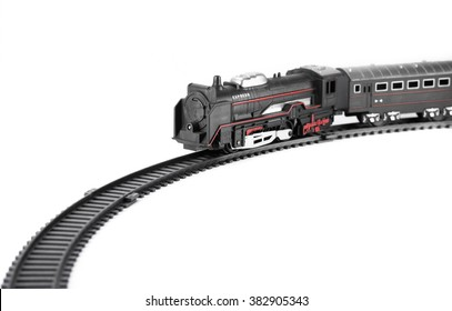 Toy train isolated on white background for fill text in space