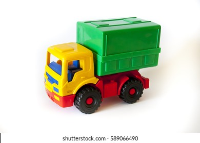 toy truck on a white background, for intellectual development to