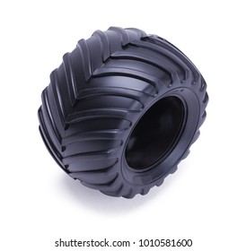 Toy Truck Tire Isolated on a White Background.