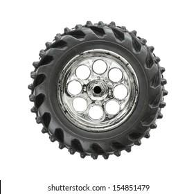 Toy wheel isolated on white background