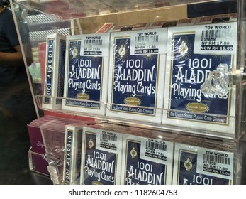 Toy World, Genting Premium Outlet,Pahang,Malaysia - September 2018: 1001 Aladdin Playing Cards for sale at Toy World Genting Premium Outlet, Genting Highlands ,Malaysia.