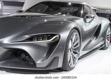 The Toyota FT-1 concept at The North American International Auto Show January 12, 2015 in Detroit, Michigan.