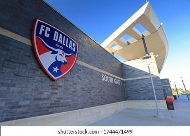 TOYOTA STADIUM, FRISCO TX, USA, MAY 29, 2020: Soccer stadium built and owned by the city of Frisco, Texas, a suburb of Dallas is home of the Major League Soccer club FC Dallas.