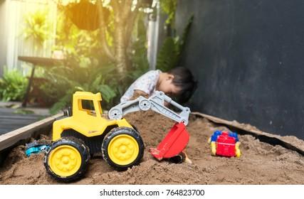 Toys for children in sand