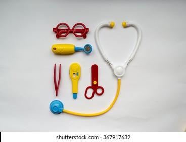 Toys - medical instruments and machine ambulance