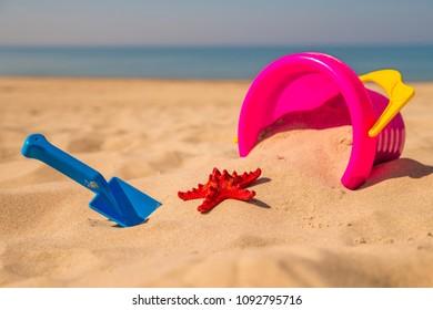 toys on a sunny beach