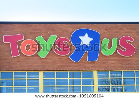 Toys R Us Toy Store Sign Stock Photo Edit Now 1051605104