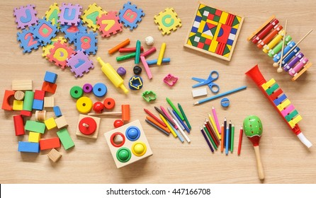 Toys and stationery for kids to play and learn