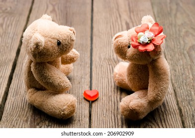 toys two bears in love