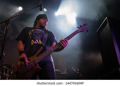 Traa Daniels Bassist of P.O.D Live at o2 Ritz Manchester UK, march 10th 2019