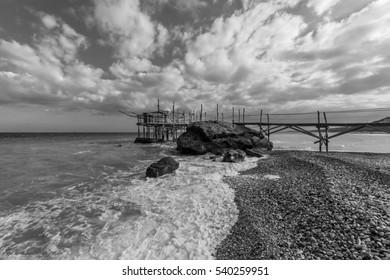 Trabocchi Coast in the Abruzzo region (Italy) - Wooden architecture on the sea