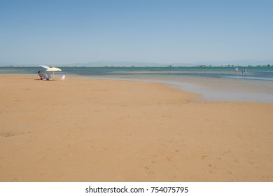 Trabucador Beach in Spain,Catalonia