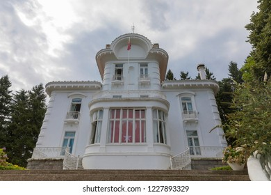 TRABZON, TURKEY - AUGUST 5, 2018: Ataturk kiosk, formerly used as Kapagiannidis summer residence, in Trabzon, Turkey