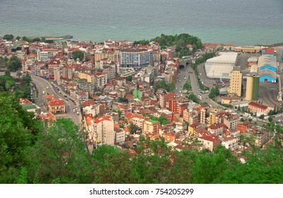 TRABZON / TURKEY, SEPTEMBER 24, 2017: A view from Boztepe to Trabzon. Amazing Cityview from Boztepe to Trabzon.