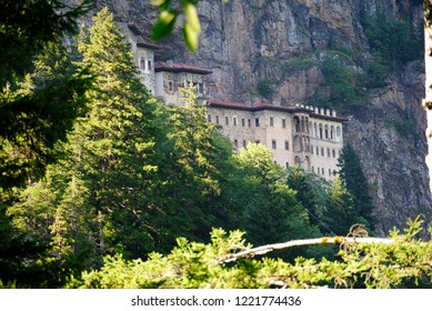 Trabzon, Turkey - September 5, 2018 - Greek Orthodox Sumela monastery at Mela Mountain (Karadag) within the Pontic Mountains range in the Macka district of Trabzon Province