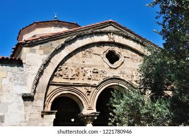 Trabzon, Turkey - September 5, 2018 - Hagia Sophia (Ayasofya) of Trabzon on a beautiful sunny day