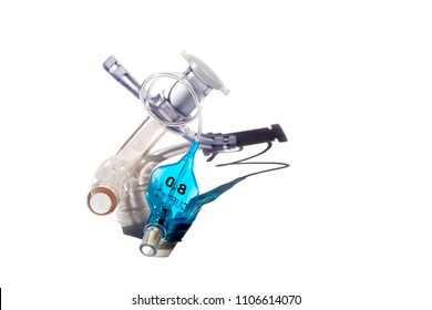 tracheostomy tube isolated on a white background