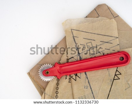 Tracing Wheel Paper Dressmaking Pattern Home Stock Photo Edit Now