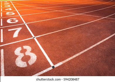 Track for athletics for background