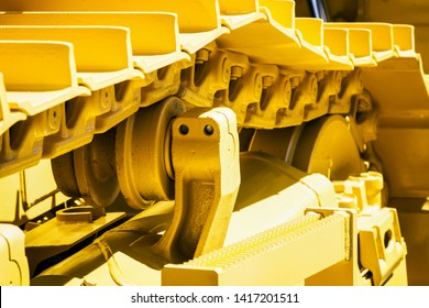 track equipment installed on a tractor, excavator or bulldozer