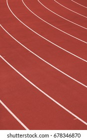 Track And Field Lanes - Athlete Running Track