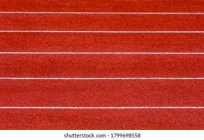 Track and Field Lanes. Running lanes at a track and field athletic center