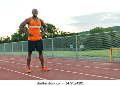 Track and Field Runner Smiling