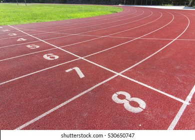 Track and field sports venues of the runway