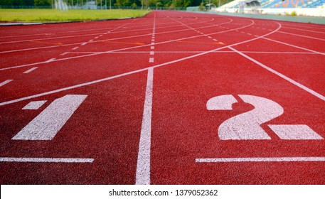 track filed, running, Athlete Track or Running Track , running track, red lane sport