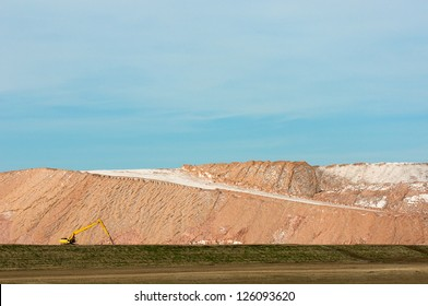 Track hoe at Potash Tailing Hill