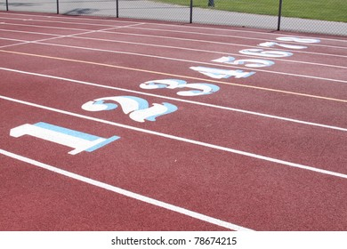 track lanes with numbers