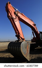 Track mounted power equipment can move dirt quickly on large construction projects
