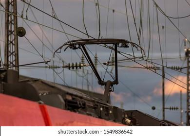a track pantograph overhead line