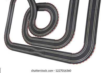 track race toy isolated on the white background