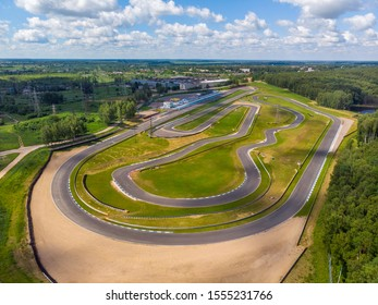 Track for racing on cars, top view