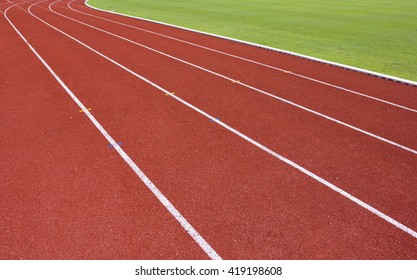 Track for running in the stadium.for background usage.