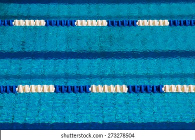 Track in the swimming pool with clean and clear water