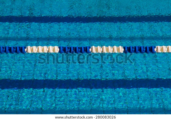 Track Swimming Pool Clean Clear Water Stock Photo (Edit Now ...