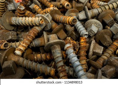 at the track they have many rusty bolts and screws