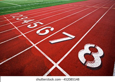 Tracking and field starting line lanes 1-8
