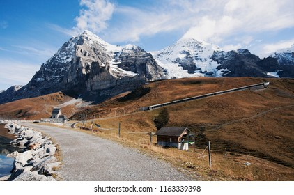 Tracking path of Eiger walk from Jungfrau, Switzerland