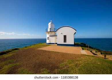 Tracking Point Lighthouse (Australia's 13th oldest lighthouse).  Built in 1870 south of Port Macquarie, New South Wales, Australia