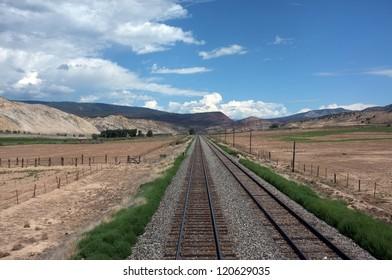 Tracks crossing Colorado