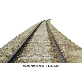 The tracks on the white background