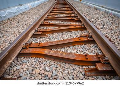 Tracks at railway viaduct Krakow Krzemionki - Krakow Zablocie