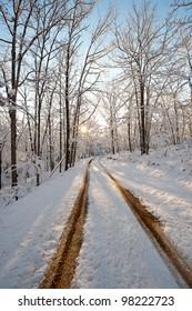 Tracks through Snow