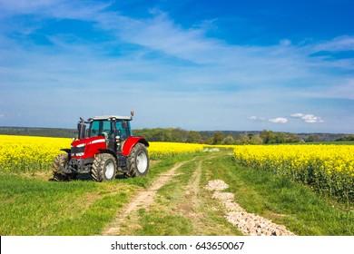 Tracktor in field