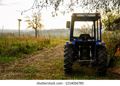 tracktor on the field