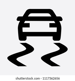 Traction control light icon